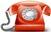 telefono rosso piccolo